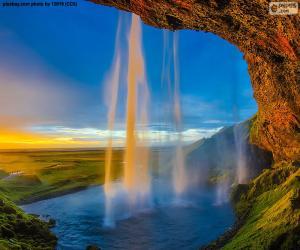 puzzel Seljalandsfoss, IJsland
