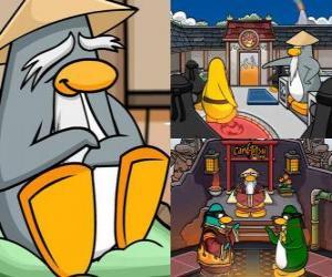 puzzel Sensei is een zeer wijs pinguin leven in de Dojo en leert hen te ninja pinguins