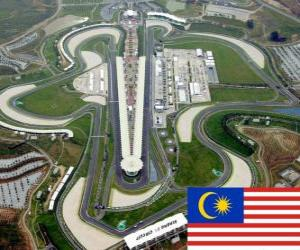 puzzel Sepang International Circuit - Maleisië -