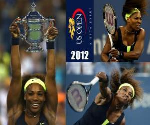 puzzel Serena Williams 2011 US Open Kampioen