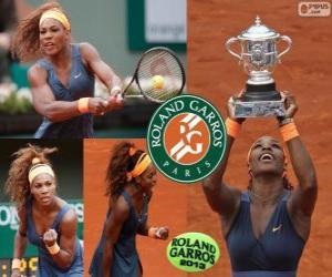 puzzel Serena Williams kampioen Roland Garros 2013