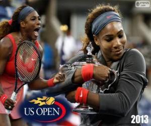 puzzel Serena Williams ons Open 2013 kampioen