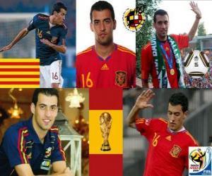 puzzel Sergio Busquets (El Badia octopus) Spaanse nationale elftal Middenvelder