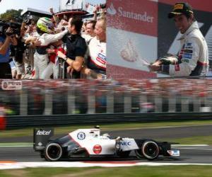 puzzel Sergio Pérez - Sauber - Grand Prix van Italië-2012, 2 nd ingedeeld