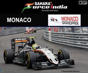 puzzel Sergio Perez, Grand Prix van Monaco 2016