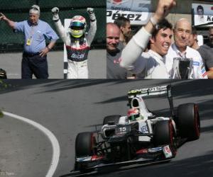 puzzel Sergio Perez - Sauber - Grand Prize van Canada (2012) (3de positie)
