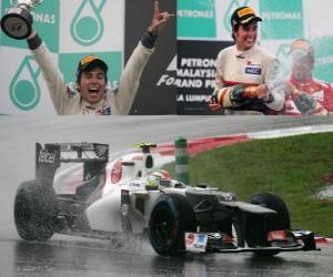 puzzel Sergio Perez - Sauber - Maleisische Grand Prix (2012) (2e plaats)