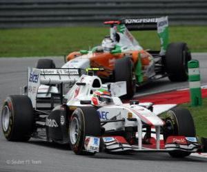 puzzel Sergio Perez - Sauber - Sepang 2011