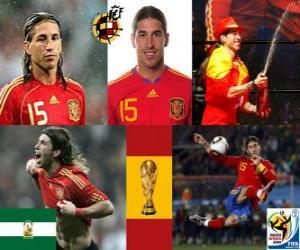 puzzel Sergio Ramos (De Indiaan van Camas) Spaanse team de verdediging