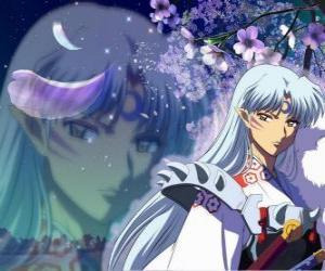 puzzel Sesshomaru, Inuyasha broer. Een totaal gewetenloze demon die zijn broeder haat, de mensen en de zwakke