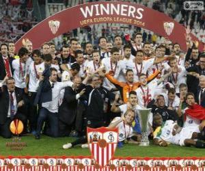 puzzel Sevilla FC, kampioen UEFA Europa League 2013-2014