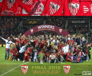 puzzel Sevilla, kampioen Europa League 2014-2015