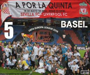 puzzel Sevilla, kampioen Europa League 2015-16