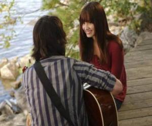 puzzel Shane (Joe Jonas) zingen samen Mitchie Torres (Demi Lovato)
