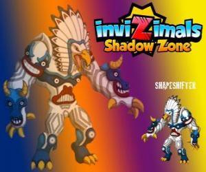 puzzel Shapeshifter. Invizimals Shadow Zone. Enorme totem met een enorme kracht is de god van de bossen van de indianen