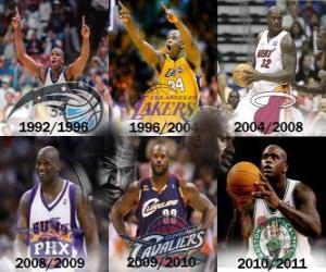 puzzel Shaquille O'Neal beschouwd als de meest dominante speler in geschiedenis van de NBA. Op 1 juni 2011 kondigde zijn pensioen
