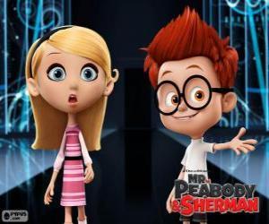 puzzel Sherman en Penny, twee klasgenoten
