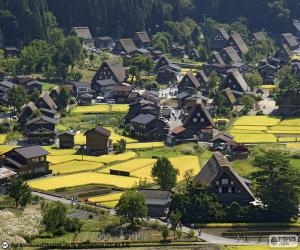 puzzel Shirakawa-go, Japan