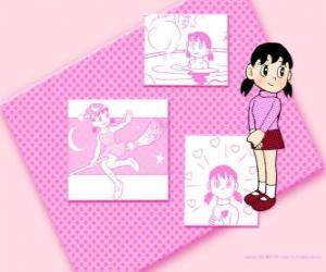 puzzel Shizuka Minamoto is het enige meisje in de groep