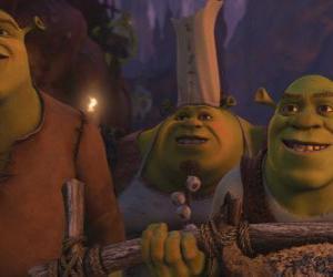 puzzel Shrek samen met andere ogres.