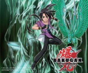 puzzel Shun en zijn Bakugan Ventus