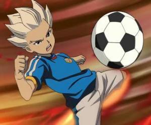 puzzel Shuya Gouenji of Axel Blaze, spits en topscorer van het team van de Raimon in de avonturen van Inazuma Eleven