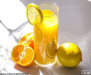 puzzel Sinaasappelsap en citroen
