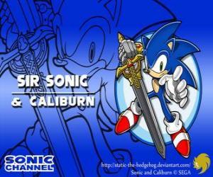 puzzel Sir Sonic, Sonic met het zwaard van een ridder
