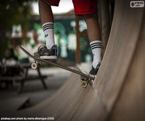 puzzel Skateboarden