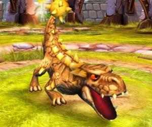 puzzel Skylander Bash, de formidabele dinosaurus. Aarde Skylanders