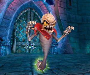 puzzel Skylander Ghost Roaster, een wezen dat kwade geesten eet. Ondood Skylanders