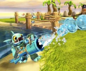 puzzel Skylander Gill Grunt, een schepsel dat nooit laat ontsnappen zijn prooi. Water Skylanders