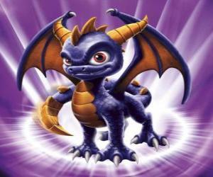 puzzel Skylander Spyro, de draak is een geduchte tegenstander die kan vliegen en vuur schiet uit de mond. Magic Skylanders