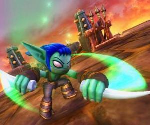 puzzel Skylander Stealth Elf, de ninja strijder. Leven Skylanders