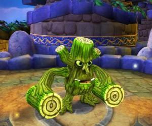 puzzel Skylander Stump Smash, de hamer schepsel heeft houten balken in plaats van wapens. Skylanders Leven