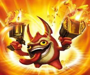 puzzel Skylander Trigger Happy, de koning van de trekker. Tech Skylanders