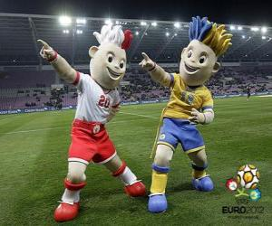 puzzel Slavek en Slavko - UEFA Euro 2012 -