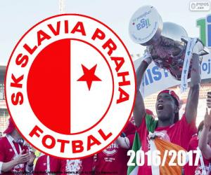 puzzel Slavia Praag, kampioen 2016-2017