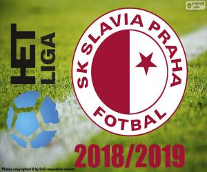 puzzel Slavia Praag, kampioen 2018-2019