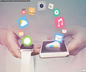 puzzel SmartWatch en smartphone