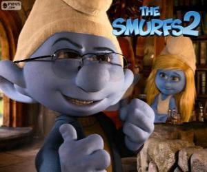 puzzel Smurfin en Brilsmurf
