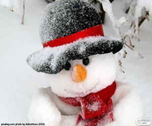 puzzel Sneeuwman met sjaal