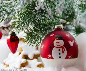 puzzel Sneeuwpop bal