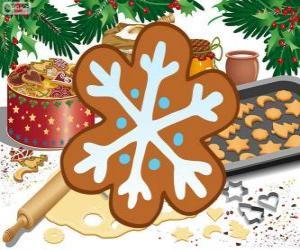 puzzel Sneeuwvlok koekje