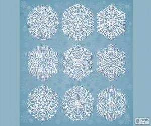 puzzel Sneeuwvlokken