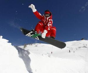 puzzel Snowboarder doen een truc