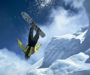 puzzel Snowborder in een sprong