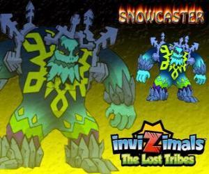 puzzel Snowcaster. Invizimals The Lost Tribes. De Allerhoogste Heer van Ice, een mystieke en krachtige wijze die leeft in de gletsjers