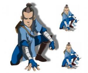 puzzel Sokka is een 15 jaar oude krijger van de Zuidelijke Waterstam, die gaat met Aang