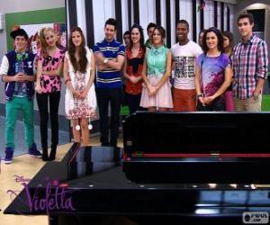 puzzel Sommige van de karakters van Violetta 2